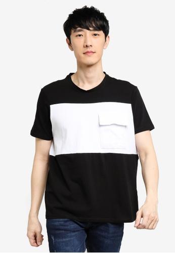 KOTON black Colorblock Pocket T-Shirt EB664AA635F849GS_1