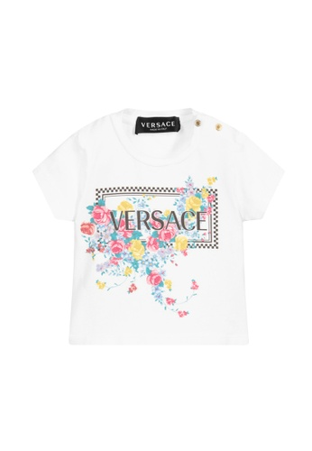 VERSACE white VERSACE BABY GIRLS T-SHIRT F1235KA12111B9GS_1