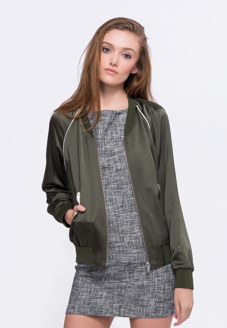 Chloe Green Sea Low Style Bomber Alpha Neck Jacket Yxw5pq0p