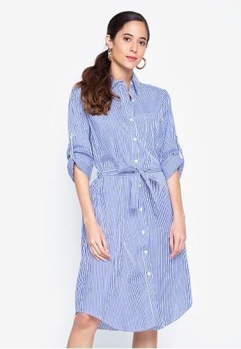 Graygoods blue Joy Shirt Dress With Belt 834CFAAD05CFE2GS_1