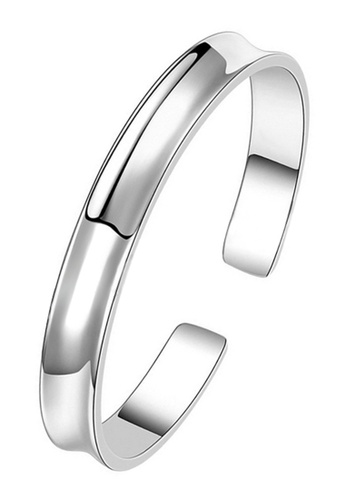 CUFF IT silver Mens Shiny Groove Stainless Steel Bangle 45E2CACDD8C789GS_1