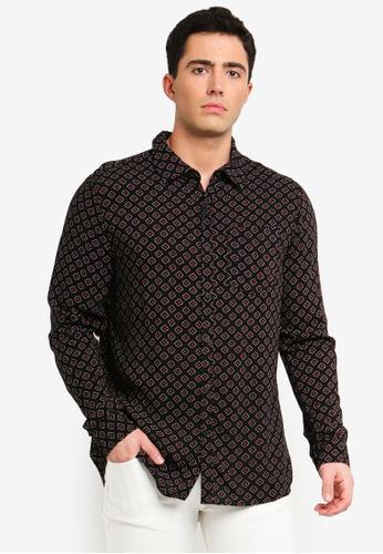 Cotton On 黑色 印花襯衫 5BCF4AA74C8213GS_1