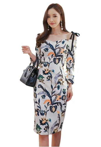 Sunnydaysweety white New Floral Off Shoulder One Piece Dress CA011725MT0 BC5C4AAA53233CGS_1