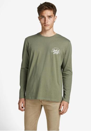 Jack & Jones green Kimbel Long Sleeves Tee A3484AAF4ACEE2GS_1