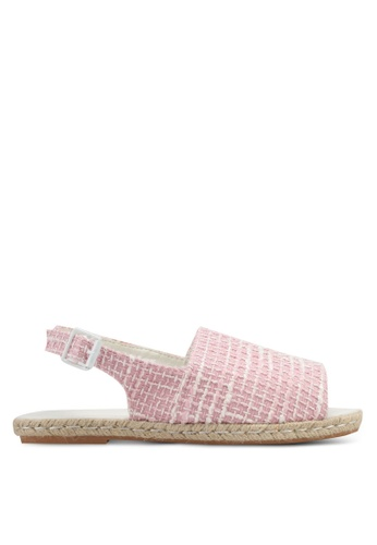 VINCCI pink Tweed Sling Back Sandals VI831SH0SY3HMY_1