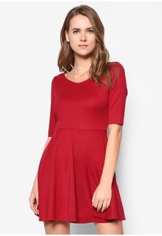 Basic V Neck Skater Dress