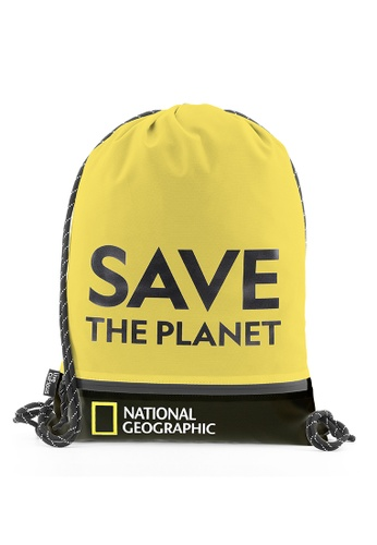 National Geographic yellow National Geographic Saturn Drawstring Bag Yellow E2A52AC8489C91GS_1