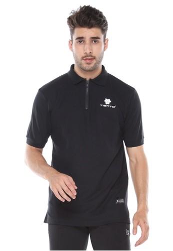 Tiento black Tiento Polo Shirt True Basic HDC Black Baju Kaos Kerah Ritsleting Lengan Pendek 60E24AA37785EEGS_1