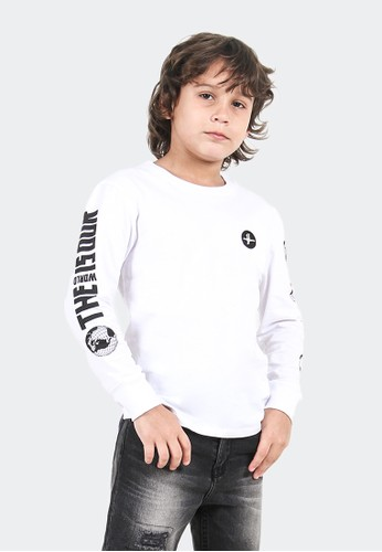 CELCIUS KIDS white TShirt Long Sleeve A07405K Sablon 3B446KAD13297BGS_1