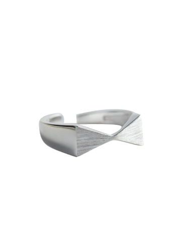 A-Excellence silver Premium S925 Sliver Geometric Ring 63166ACA26096FGS_1