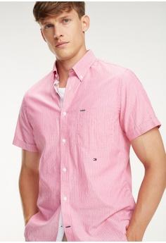b67d577b1 20% OFF Tommy Hilfiger Slim Co/Li Fine Stripe Shirt S RM 549.00 NOW RM  439.20 Sizes S M L XL XXL