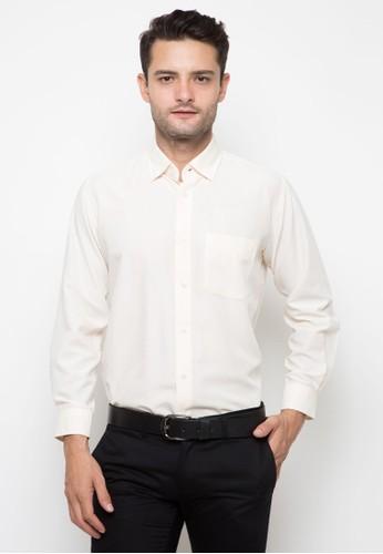 RICCIMAN white Ricciman Regular Fit Lengan Panjang Cream 5A4E8AA9B1415BGS_1