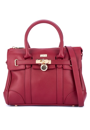 Figliarina Red Structured Handbag 46798ac9e538d2gs 1