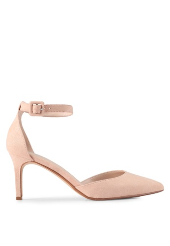 Mango pink Ankle-Cuff Pointed Toe Shoes A2B38SH77691C8GS_1