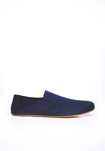 Minarno blue Blue Canvas Slip-On ND08 MI641SH22DLLID_1