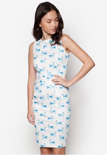 Tiffany 褶飾貼身連身裙, 服飾, esprit 會員服飾