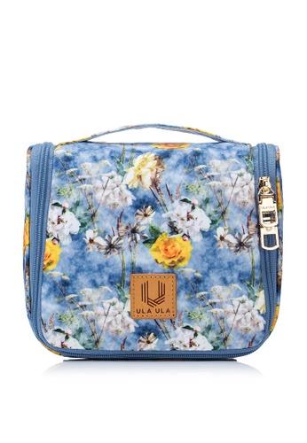 ULA ULA blue ULA ULA Blossom Morning Toiletry Bag with Metal Hanging Hook B74F2BE23AD229GS_1