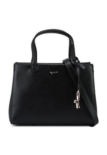 agnès b. black Top-Handle Bag 78B26ACEEBD4A9GS_1