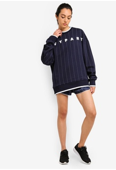 c2b895fbc7e47 31% OFF Ivy Park Unisex Pinstripe Crew Sweatshirt S  99.90 NOW S  68.90  Available in several sizes