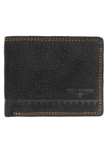 midzone black BULL RYDERS Genuine Leather Wallet 44C7FAC89CF7EEGS_1