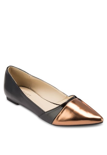 DARLesprit服飾ENE 金屬感尖頭平底鞋, 女鞋, 鞋