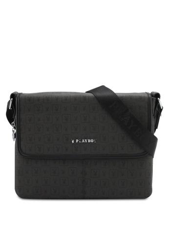 Playboy black Playboy Sling Bag PL371AC0SMCDMY_1