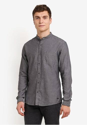 ESPRIT black Woven Long Sleeve Shirt ES374AA0RXWUMY_1