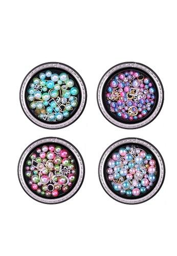 Pretty2u multi Nail Accessories Flaming Pearl 4PCS Color Set C 64222BE362E20FGS_1