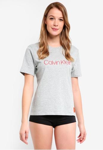 2ab52b1b98112 Calvin Klein grey Short Sleeve Crew Neck - Calvin Klein Underwear  30717AA32CC162GS 1