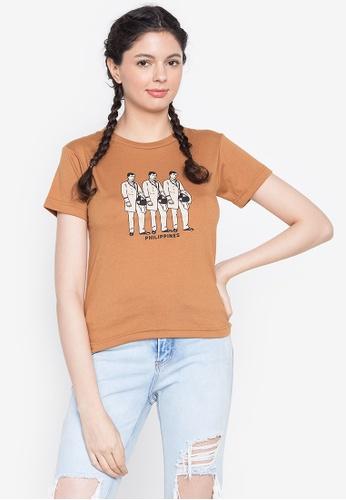 Artwork brown Ph Rizal T-Shirt D4BC0AA0D0ED32GS_1