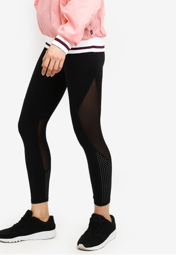 Cotton On Body black Movement Mesh Paneled 7/8 Tights 94090AADE95A0AGS_1