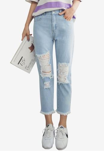 Tokichoi blue Ripped Denim Jeans 1755BAA4EF5391GS_1