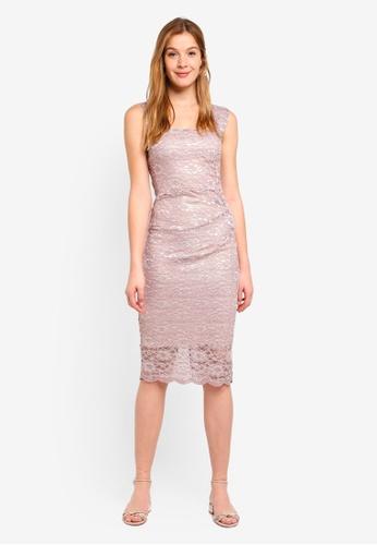 Dorothy Perkins pink Scarlett B Blush Lace 'Lara' Bodycon Dress 2969DAAF03814BGS_1