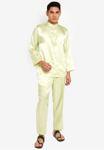 Gene Martino green Tradisional Baju Melayu 48033AA9C563DBGS_1