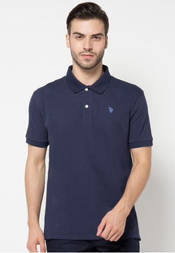 Classic Polo Shirt With Small Double Horsemen Mark