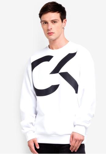 Calvin Klein 白色 LOG印花棉T 61A91AA82ED135GS_1