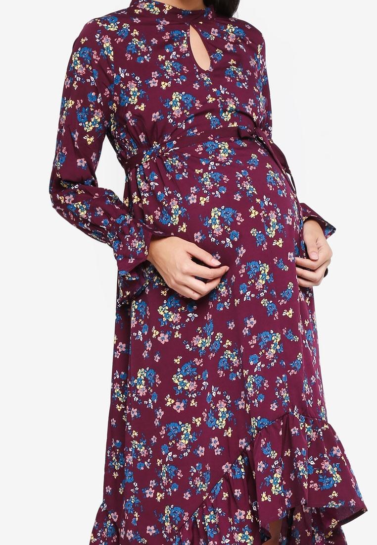 Ditsy Blue Maternity Dress licious Winetasting Mama Woven Lyons Celery USHqBSwx8