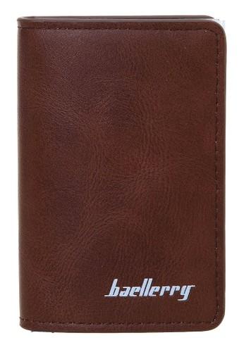 Baellerry brown Dompet Kartu Pria Model Panjang Casual Men Card Wallet Anti Theft Material Kulit ORIGINAL 0183EAC2FF74B6GS_1