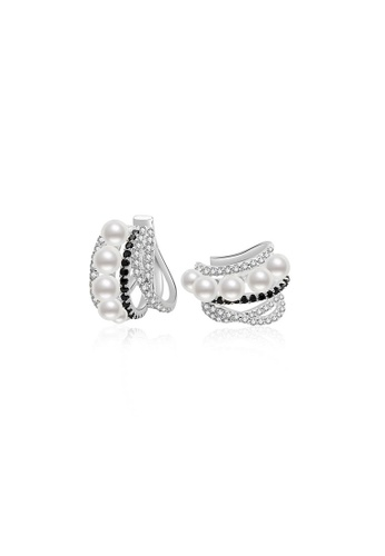 Pearly Lustre silver Pearly Lustre New Yorker Freshwater Pearl Earrings Cuff WE00219 F4B5AAC522D724GS_1