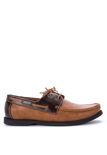 Itti brown Lace up Boat Shoes 8255DSH78FEE41GS_1