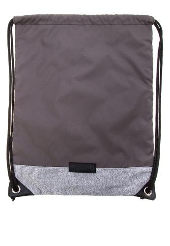 Penshoppe grey Taffeta Drawstring Backpack 4BD1FAC3866598GS_1