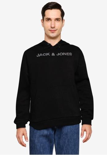 Jack & Jones black JCOBRODI SWEAT HOOD LTN 026F0AA02A1B9AGS_1