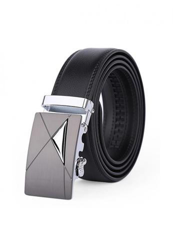 Jackbox black Dante Premium Leather Automatic Buckle Men's Belt 803 JA762AC21MYCMY_1