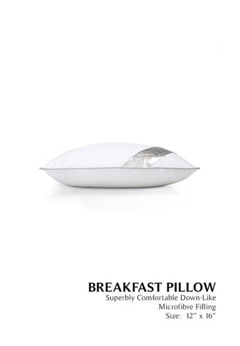 Grand Atelier white Grand Atelier Microfibre Down Feel Breakfast Pillow 400g E395BHLA984010GS_1