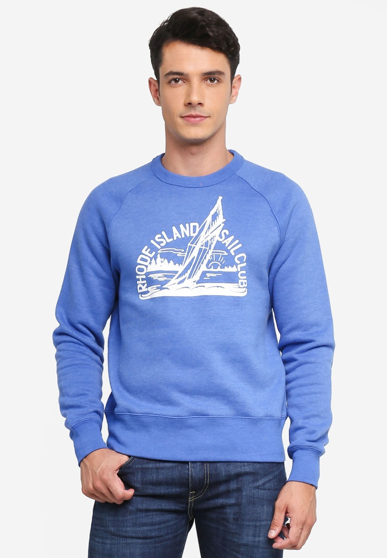 Peri J Vintage Graphic Sweater Rhode Island Crew qOYUWfw