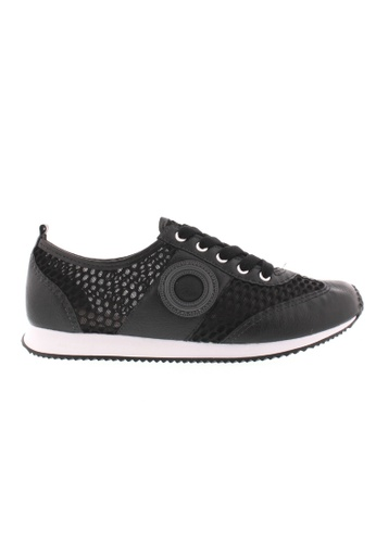 Beira Rio black and grey Laced Up Casual Sneakers BE995SH45XEKHK_1