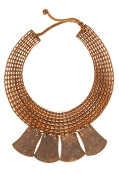 Pilar Necklace with bell-shaped Carabao horns