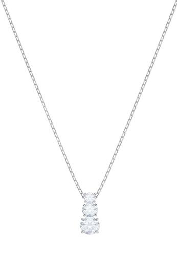 Swarovski silver Attract Trilogy Pendant Necklace FE756AC7947C8EGS_1