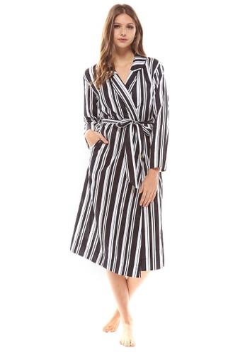 Milesprit 手錶liner 條紋睡袍, 服飾, 睡衣