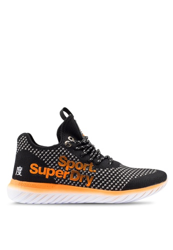 Superdry black Super Freesprint Weave Shoes 454B2SHEC8AEE2GS_1